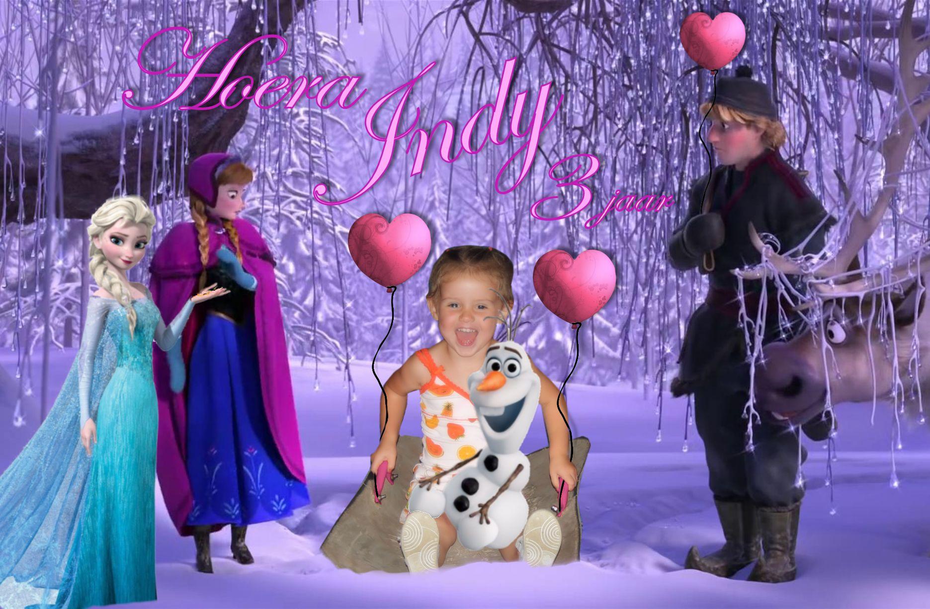 Indy 3 Jaar Thema Frozen